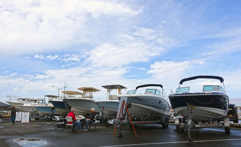 Boats for sale at the Belmar Boat Show