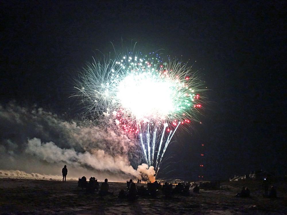 Fireworks On Belmar Beach NJ