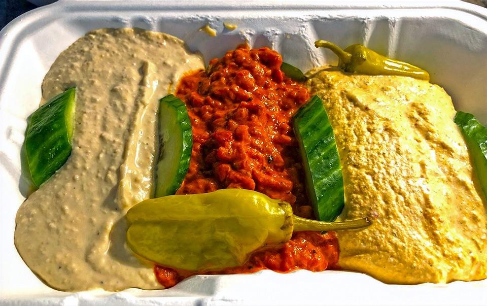 Hummus And Dips At Mr. Greek Restaurant