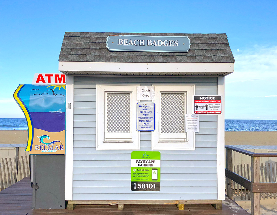 Belmar Beach Tag Booth