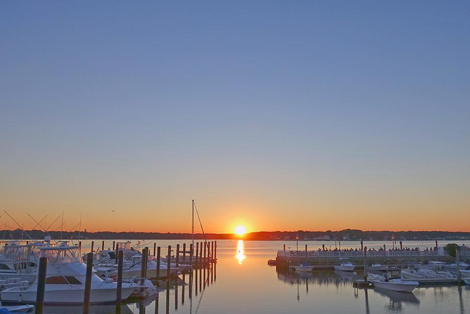 Sunset At Belmar Marina