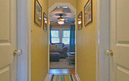 Central Hallway From Kitchen