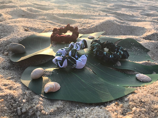 soft oversized anti-breakage beach scrunchies from Laguna Lane - eco-friendly hair ties and accessories