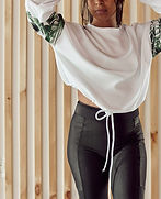 Ribbed high waisted women's leggings with hidden key pocket from Laguna Lane - sustainable activewear clothing brand