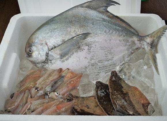 〈送料込〉マナガツオと夏のおすすめ煮付け用魚介のコラボセット【下処理なし】