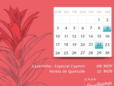 Agenda de Novembro na Casa Amálgama