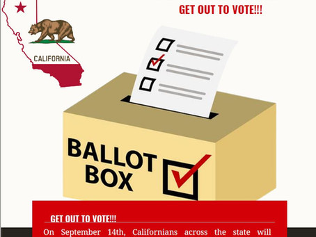 Governor Newsom Recall Election - Sorors, we have to stand!