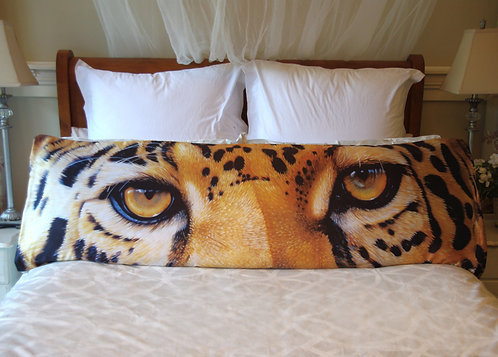 leopard eyes body pillow case