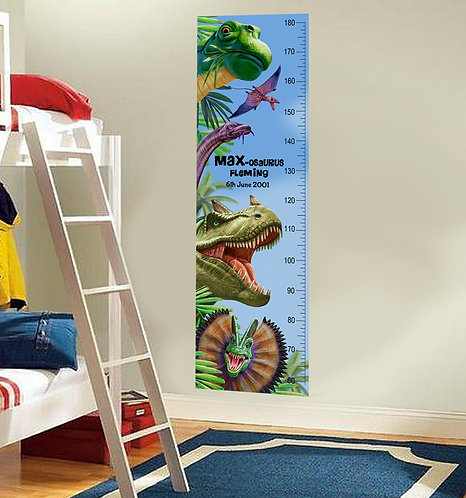 Personalised Dinosaur Height Charts
