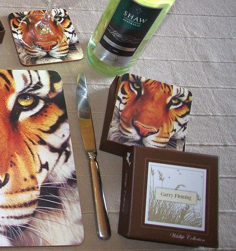 Tiger coasters