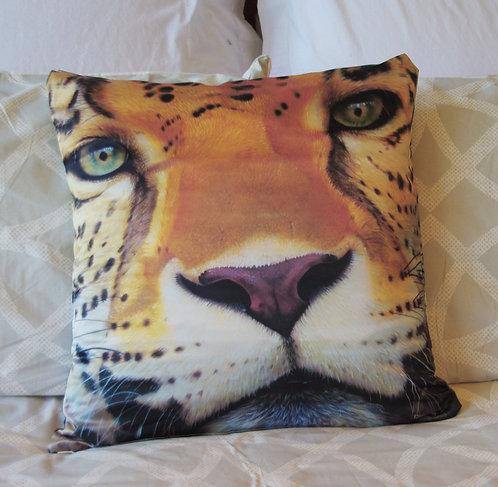 Leopard face pillow