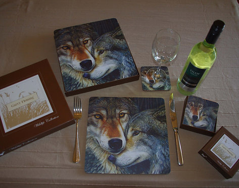 Grey wolf placemats
