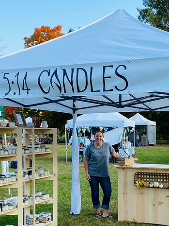 5:14 Candle owner Emily at a Northern Michigan craft show.