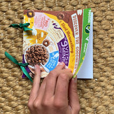 Funky cereal packet cover