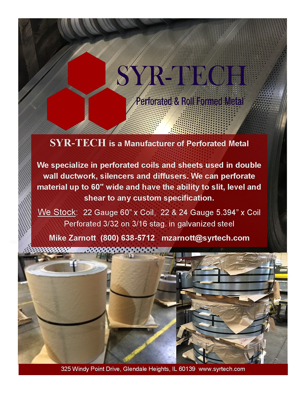 Perforated Metal For HVAC Spiral Pipe