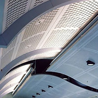 Architectural perforated metal ceiling