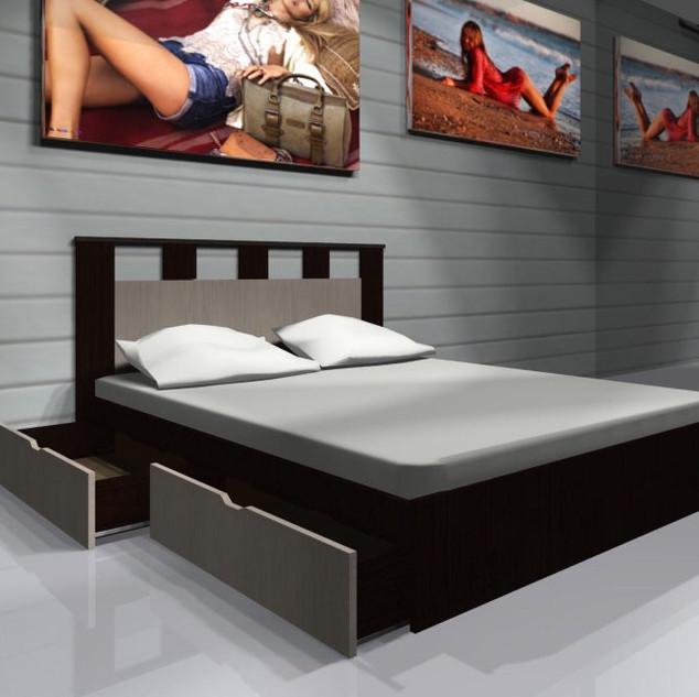 Кровать с ящиками с 2-х сторон