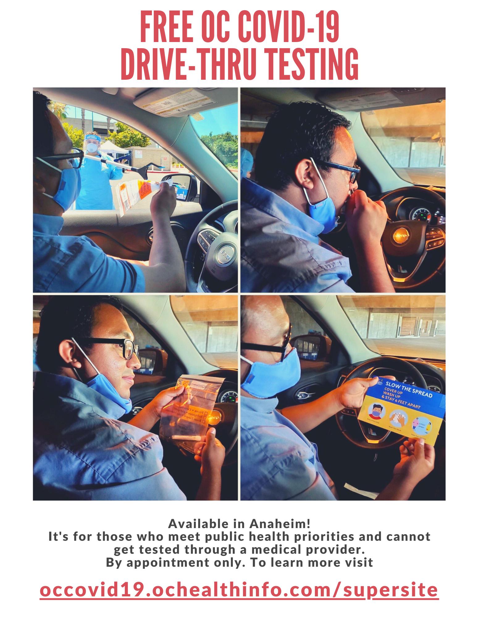 FREE OC COVID-19 DRIVE-THRU TESTING