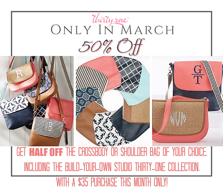 Thirty one gifts handbag giveaway ends 328 everyday gizmos build your own bag and save this month is the time to upgrade your handbag with thirty one gifts and save for the month of march you can save 50 on the solutioingenieria Choice Image