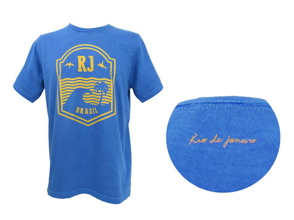 Camiseta Made in Rio by le modiste estampa exclusiva originals Rio de Janeiro, carioca, Dimona, brasão RJ, escudo RJ