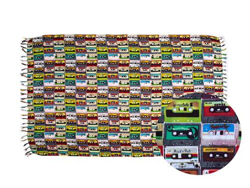 Canga Produto Oficial Rock in Rio by le modiste com estampa exclusiva originals fita cassete, k7, vintage