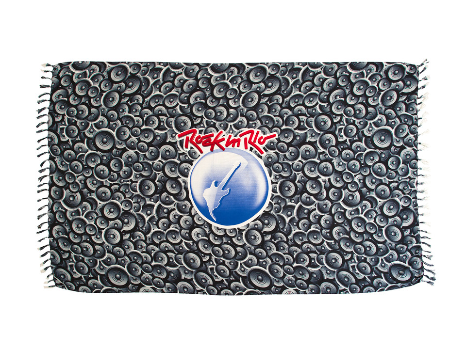 Canga Produto Oficial Rock in Rio by le modiste com estampa exclusiva originals subwoofer logo grande guitarra