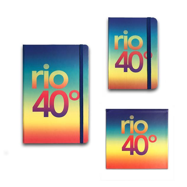 Papelaria cadernetas tipo moleskine e blocos de anotações de recado com estampas excluivas le modiste originals Made in rio de janeiro Rio 40 graus
