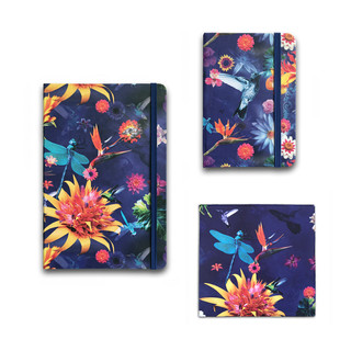Papelaria cadernetas tipo moleskine e blocos de anotações de recado com estampas excluivas le modiste originals floral
