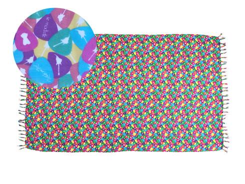 Canga Produto Oficial Rock in Rio by le modiste com estampa exclusiva originals, palhetas rock in rio, candy colors