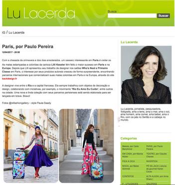 Blog da Lu Lacerda | Coluna Paris por Paulo Pereira
