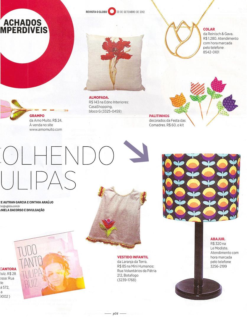 achados tulipas revista globo site novo.