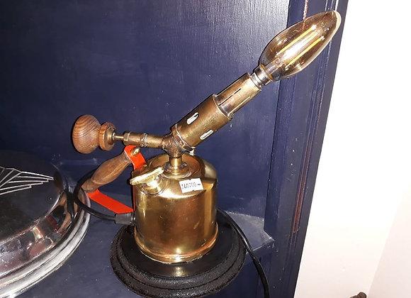 Steampunk blow torch desk lamp