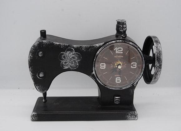 Metal Vintage Sewing Machine Clock