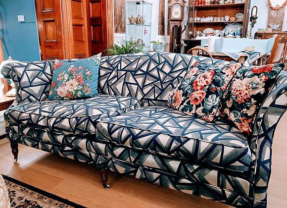 Vintage Re-upholstered Laura Ashley Sofa