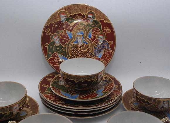 Vintage Nagoya China Japanese Tea Set (1940's)