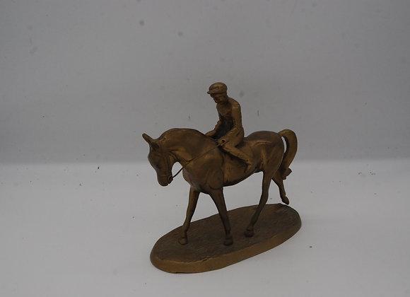 Brass Jockey on Horse