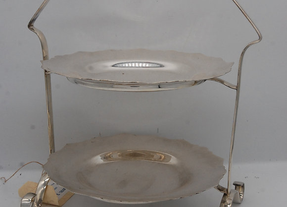 Davis & Sons Silver EPNS Cake Stand 1920's