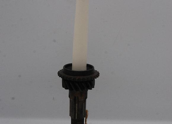 Steampunk engine gear shafts candle holder