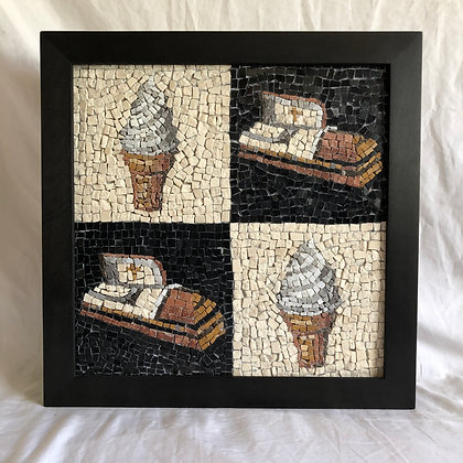 Soft serve ice cream and coffins
