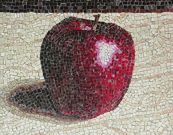 single apple, mosaic, bachor