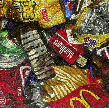 Trash #1, mosaic, bachor