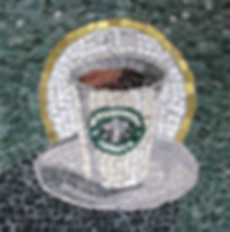 holy starbucks, mosaic, bachor