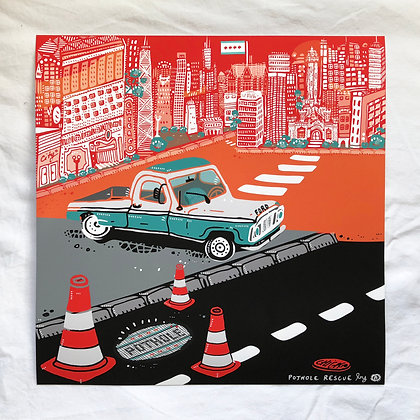 "Baldassi ""Pothole Rescue"" giclée (edition of 50)"