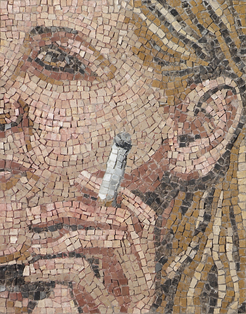 smoking #1, mosaic, bachor