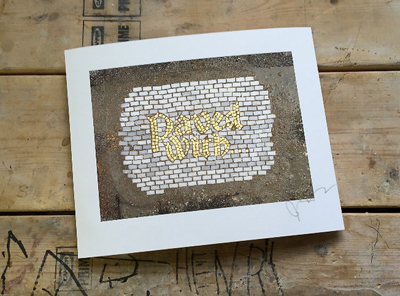 Paved with... signed print