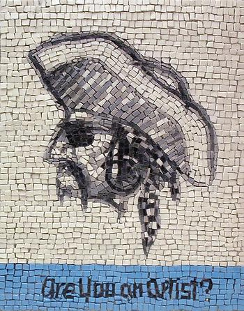 are you an artist #2, mosaic, bachor