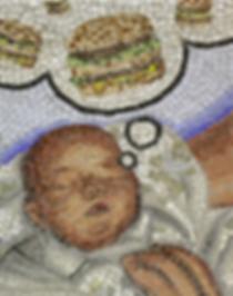 baby fat, mosaic, bachor
