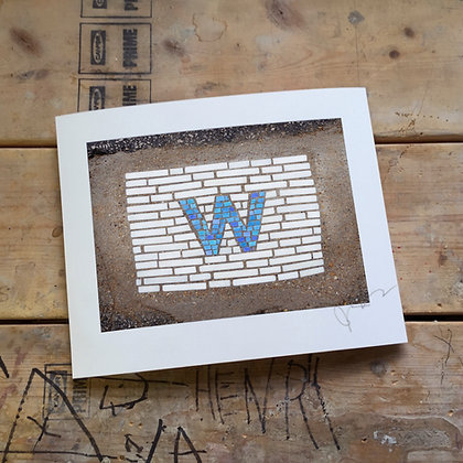 """W"" signed print"