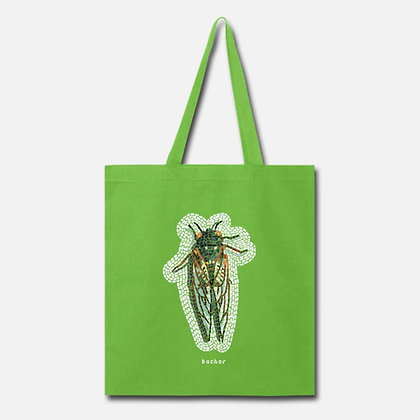 """""""Cicada Invasion"""" tote bag"""
