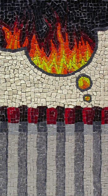 match thinking, mosaic, bachor